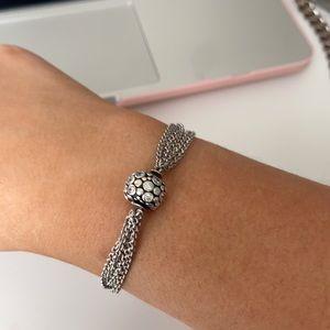 Pandora Multi Strand Bracelet with Charm